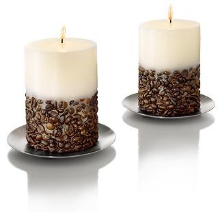 кофейные свечи из воска
