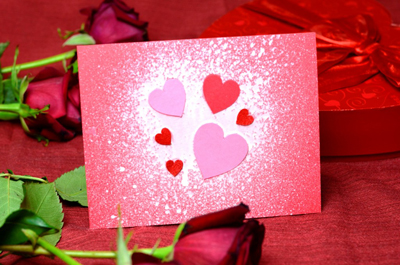 красивая валентинка с цветами