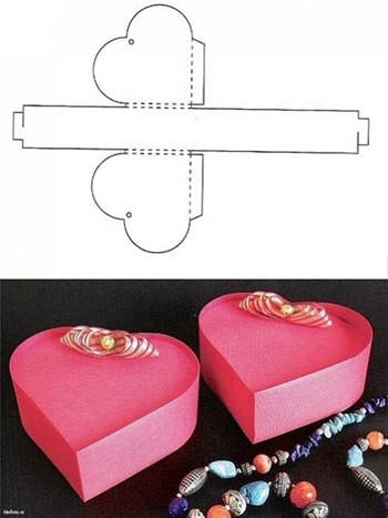 коробочка - сердечко из бумаги