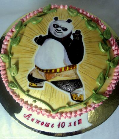 торт с изображением кунфу панды