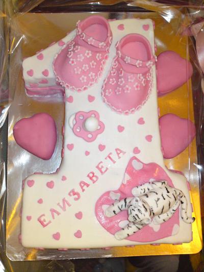 сладкий торт девочке на 1 год