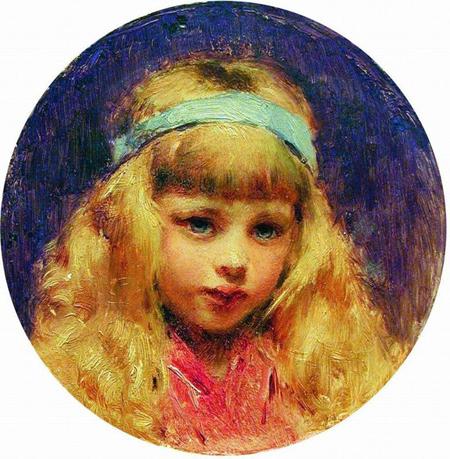 портрет девочки написаный красками