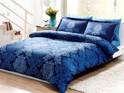 тёмно синее постельное белье