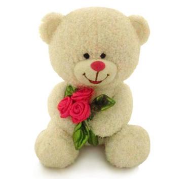 плюшевая игрушка с цветами