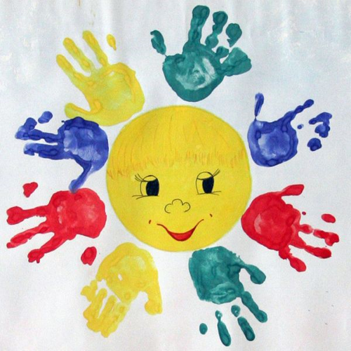 детский рисунок солнце