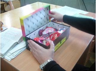 коробка с валентинками