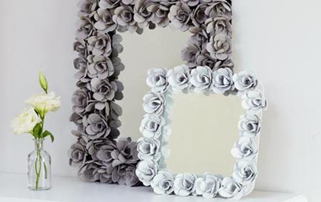 бумажная рамка в виде роз
