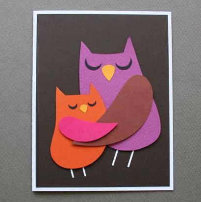 открытка с совами