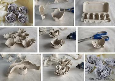 процесс изготовления бутона бумажной розы