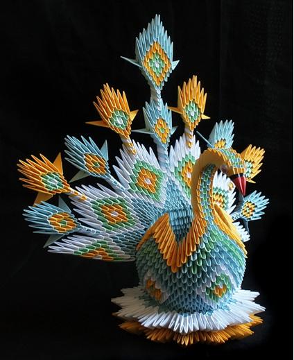 лебедь из бумаги оригами