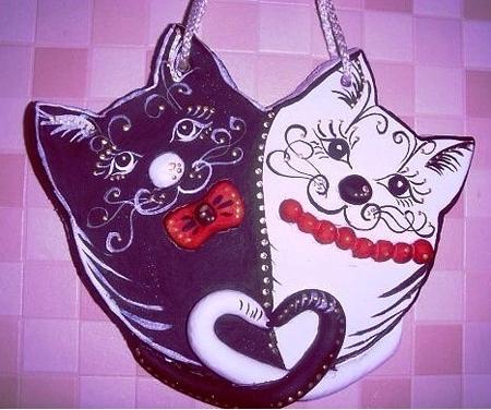 валентинка в виде котов