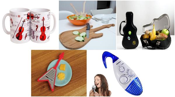 практичные предметы в виде музыкальных инструментов