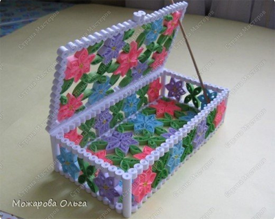 шкатулка из бумаги по технологии квилинга