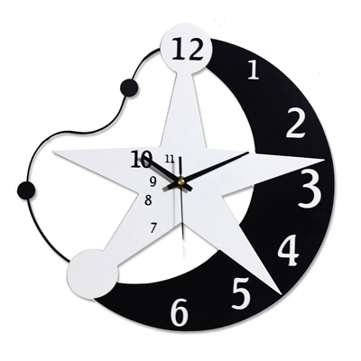 настенные часы в виде звезды