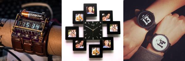 оригинальные идеи часов