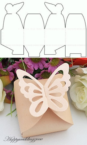 коробочка с бабочкой из бумаги