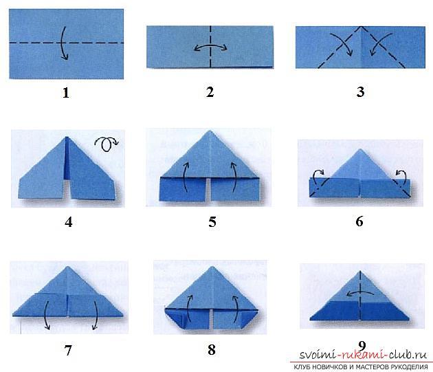 схема сборки модулей для оригами
