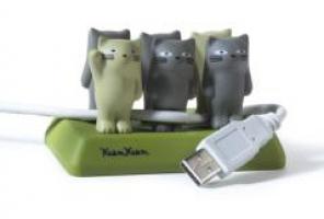 держатель для проводов в виде котиков