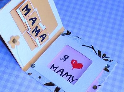 самодельная открытка для мамы