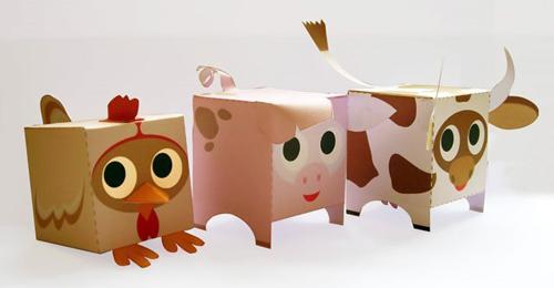 коробка в форме животного