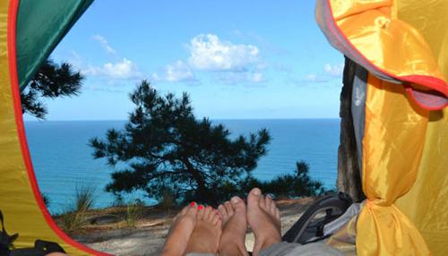 отдых в палатке на море