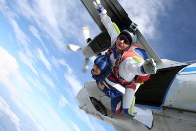 прыжок с инструктором с парашютом