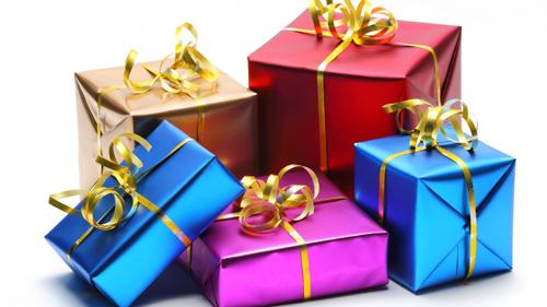 коробки с подарками