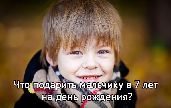 Что можно подарить мальчику в 7 лет на день рождения