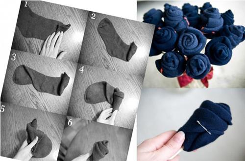 букет цветов из носок