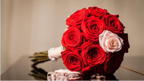 букет роз на свадьбу