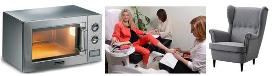 микроволновая печь и кресло