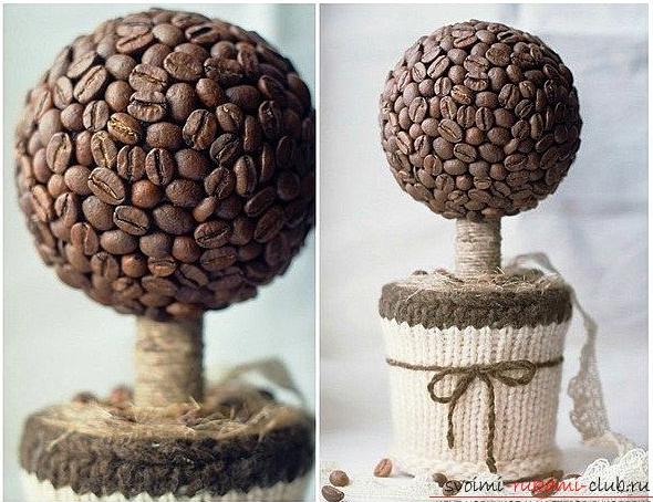 дерево из кофе - топиарий