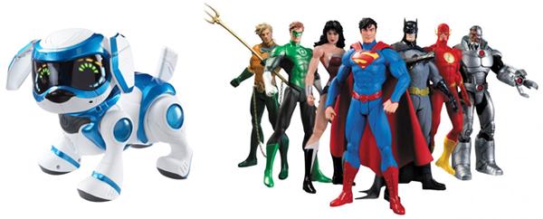 собака робот, фигурки супергероев