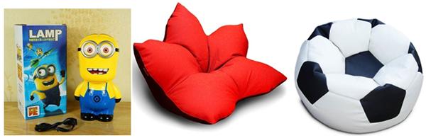 подушка пуфик в необычной форме