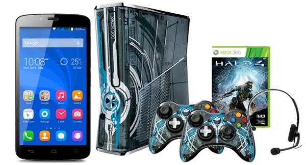 игровая приставка и смартфон