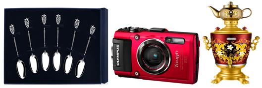 фотоаппарат, самовар и серебрянные ложки