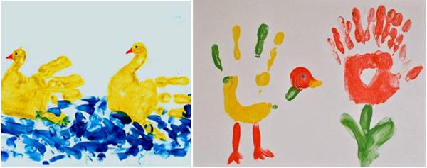 детские рисунки руками
