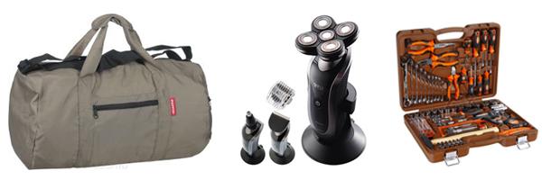 сумка, электробритва и набор инструментов
