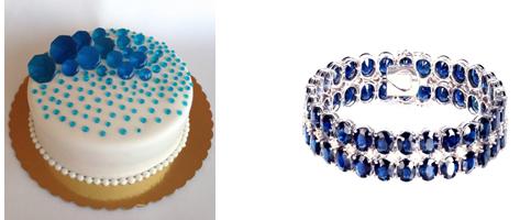 торт и сапфировый браслет