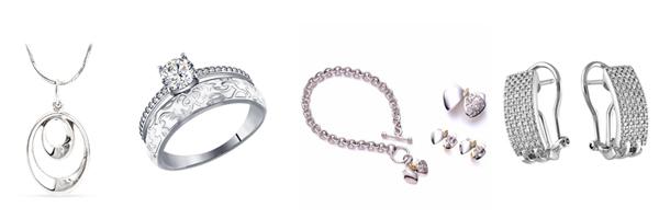серебряные ювелирные украшения для женщины