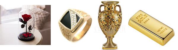 подарки из золота на свадьбу