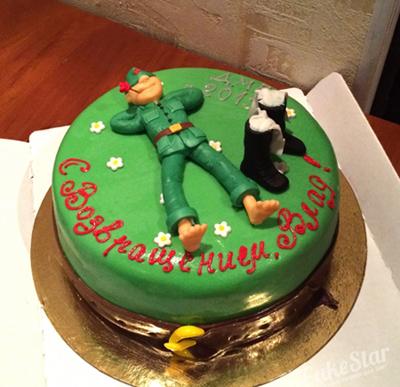 праздничный торт для дембеля