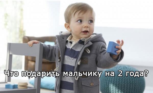 Какие подарки лучше подойдут мальчику на 2 года?
